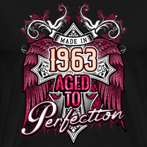 Made in 1963 aged to perfection - birthday gift present - RAHMENLOS T-Shirts - Männer Premium T-Shirt