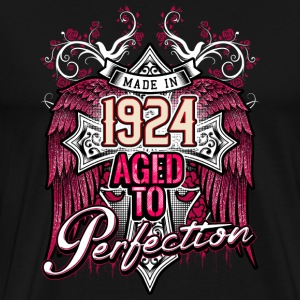 Made in 1924 aged to perfection - birthday gift present - RAHMENLOS T-Shirts - Männer Premium T-Shirt