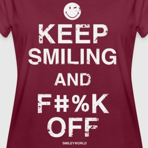 SmileyWorld Keep Smiling And F**k Off - Vrouwen oversize T-shirt