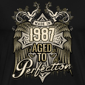 Made in 1987 aged to perfection - retro birthday gift present - RAHMENLOS T-Shirts - Männer Premium T-Shirt