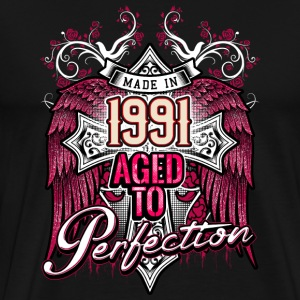 Made in 1991 aged to perfection - birthday gift present - RAHMENLOS T-Shirts - Männer Premium T-Shirt
