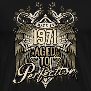 Made in 1971 aged to perfection - retro birthday gift present - RAHMENLOS T-Shirts - Männer Premium T-Shirt