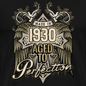 Made in 1930 aged to perfection - retro birthday gift present - RAHMENLOS T-Shirts - Männer Premium T-Shirt