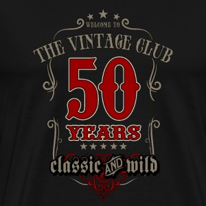 Vintage club 50 years classic and wild - grey Birthday gift present RAHMENLOS T-Shirts - Männer Premium T-Shirt