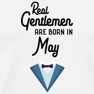 Real Gentlemen are born in May Saqmo T-Shirts - Men's Premium T-Shirt