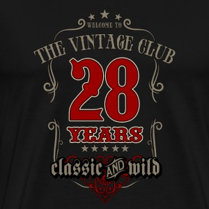Vintage club 28 years classic and wild - grey Birthday gift present RAHMENLOS T-Shirts - Männer Premium T-Shirt