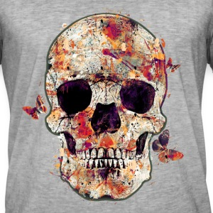 skull-and-butterfly Tee shirts - T-shirt vintage Homme