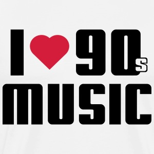 I Love 90s Music T-shirts - Mannen Premium T-shirt