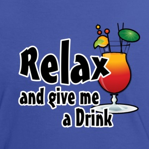 Relax - give me a Drink - Frauen Kontrast-T-Shirt