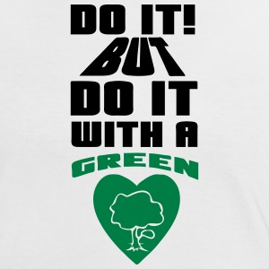 Do it with a Green Heart - Frauen Kontrast-T-Shirt