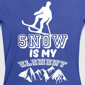 Snow is my Element  - Frauen Kontrast-T-Shirt