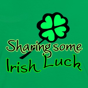 Sharing Irish Luck - Frauen Kontrast-T-Shirt
