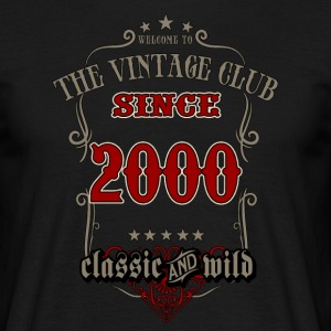 Vintage club since 2000 classic and wild - grey Birthday gift present RAHMENLOS T-Shirts - Männer T-Shirt