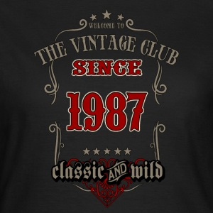 Vintage club since 1987 classic and wild - grey Birthday gift present RAHMENLOS T-Shirts - Frauen T-Shirt