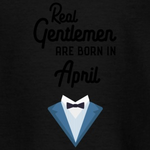 Real Gentlemen are born in April Sj55g Shirts - Kids' T-Shirt