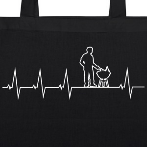 Barbecue - Grillmeister - Heartbeat Bags & Backpacks - EarthPositive Tote Bag