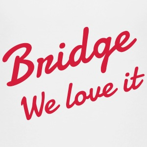 bridge / afspiller / kortspil / brætspil T-shirts - Teenager premium T-shirt