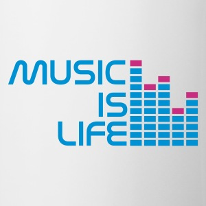 White music is life equalizer r EN Mugs  - Mug