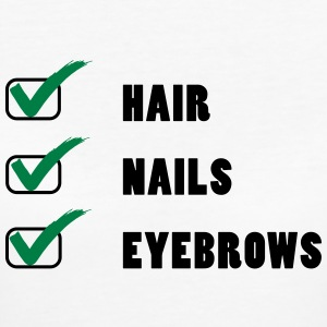 Hair Nails Eyebrows T-shirts - Vrouwen Bio-T-shirt