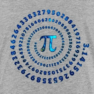 Pi Spiral, π matematik, Day, matematiske formler T-shirts - Teenager premium T-shirt
