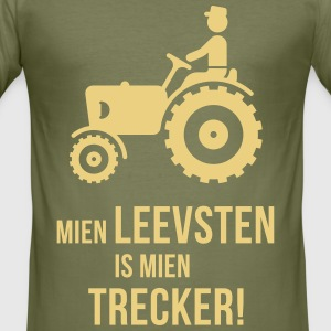 Mien Leevsten Is Mien Trecker! (Plattdeutsch) - Männer Slim Fit T-Shirt