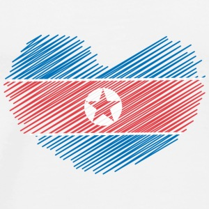 North Korea Heart T-Shirts - Männer Premium T-Shirt