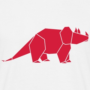 triceratops origami T-Shirts - Männer T-Shirt