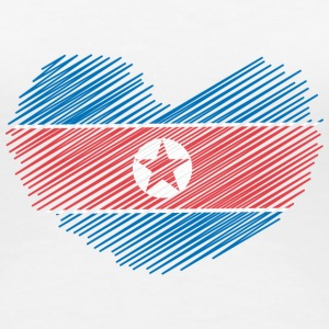 North Korea Heart T-skjorter - Premium T-skjorte for kvinner