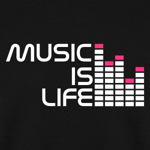 Sort music is life equalizer r DK Sweatshirts - Herre sweater