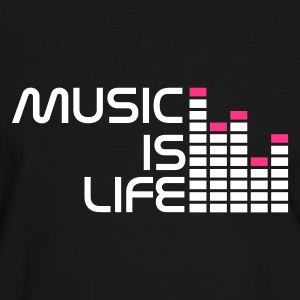 Noir/blanc music is life equalizer r FR T-shirts - T-shirt contraste Homme