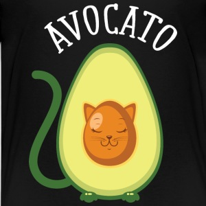 Avocato | Cute Avocado Cat Illustration T-shirts - Premium-T-shirt tonåring