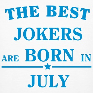 The Best Jokers Are born in JULY T-shirts - Organic mænd