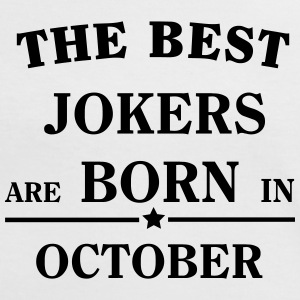 The Best Jokers Are born in OCTOBER T-shirts - Dame kontrast-T-shirt