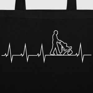 Walking Dad - Heartbeat Borse & Zaini - Borsa di stoffa