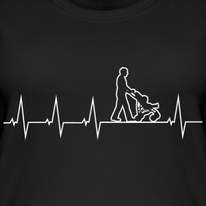 Walking Dad - Heartbeat Tops - Vrouwen bio tank top