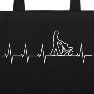 Walking Dad - Heartbeat Bags & Backpacks - EarthPositive Tote Bag