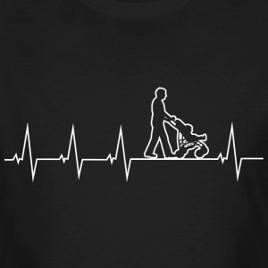 Walking Dad - Heartbeat T-shirts - Organic mænd