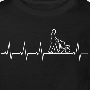 Walking Dad - Heartbeat Shirts - Kinderen Bio-T-shirt