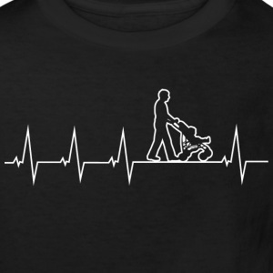 Walking Dad - Heartbeat T-shirts - Ekologisk T-shirt barn