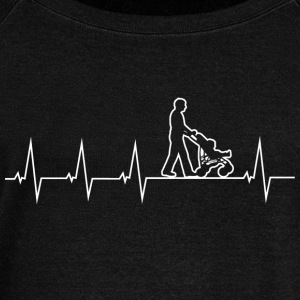Walking Dad - Heartbeat Sweat-shirts - Pull Femme col bateau de Bella
