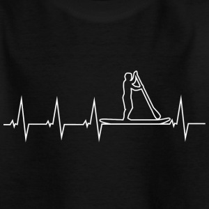 SUP - Stand up paddle - Heartbeat T-Shirts - Teenager T-Shirt