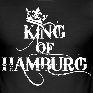 King of Hamburg Krone Kiez König Kings T-Shirt - Männer Slim Fit T-Shirt
