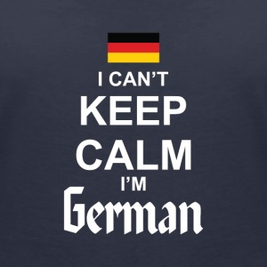 I Can't Keep Calm I'm German T-shirts - T-shirt med v-ringning dam