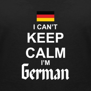 I Can't Keep Calm I'm German T-skjorter - T-skjorte med V-utsnitt for kvinner