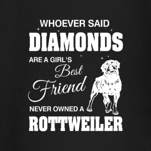 Said Diamonds best Friend.Never owned a Rottweiler baby shirts met lange mouwen - T-shirt