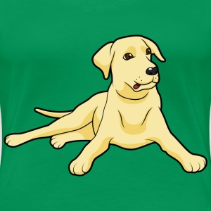 golden Labrador dogs and puppies  - Women's Premium T-Shirt