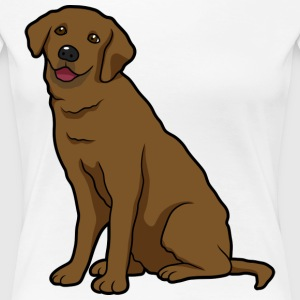 chocolate Labrador dogs and puppies  - Women's Premium T-Shirt