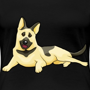 german shepherd, guard dog - Women's Premium T-Shirt