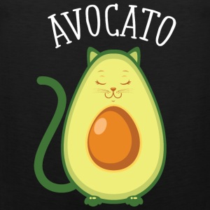 Avocato | Cute Cat Avocado Design Odzież sportowa - Tank top męski Premium