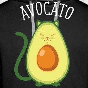 Avocato | Cute Cat Avocado Design Hoodies & Sweatshirts - Men's Premium Hoodie